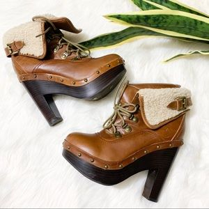 Dolce Vita Brown High Heel Booties 7